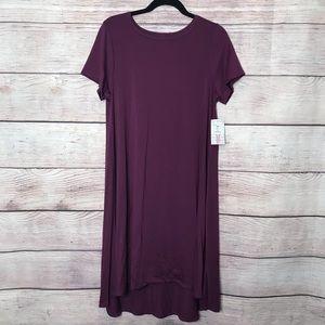 Gorgeous SOLID PLUM Lularoe Carly Dress- Medium